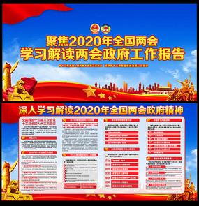 2020年全国两会政府工作报告解读展板