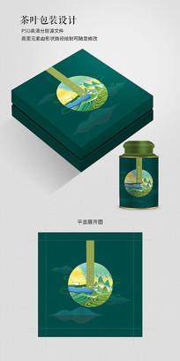 高档绿茶礼盒包装设计