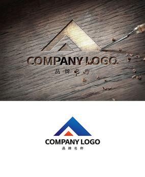 简约创意A字山峰LOGO商标设计