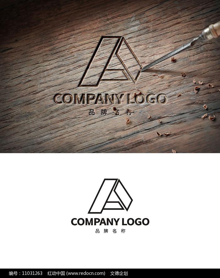 简约线条A字LOGO商标设计图片