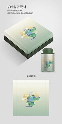清新中国风茶叶礼盒包装
