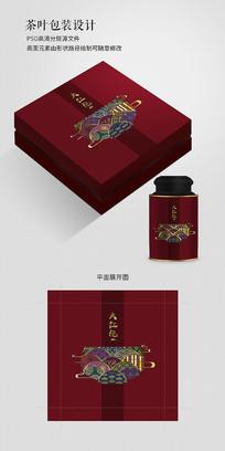 中国风大红袍茶叶包装设计