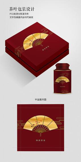 中国风红色高档茶叶包装盒