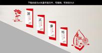 中国风廉政文化建设长廊党建楼梯墙