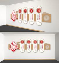 中国风廉政文化建设长廊党建文化墙