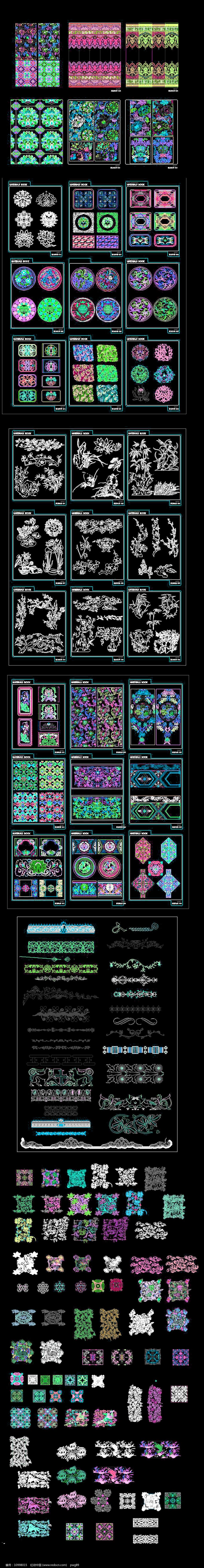 CAD花纹图案图片