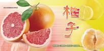 高端大气企业绿色柚子宣传海报
