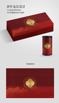 红色喜庆红茶礼盒包装