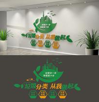 社区绿色环保垃圾分类标语文化墙