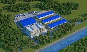 现代厂房 3D模型