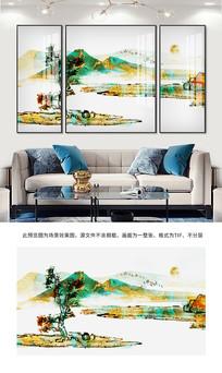新中式水墨画山水画装饰画
