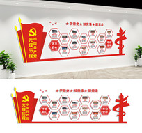 中国共产党光辉历程文化墙设计