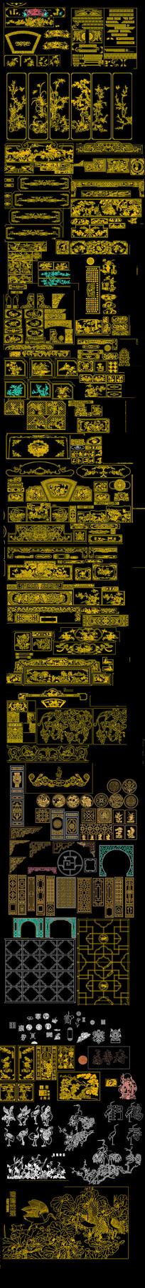 中式雕花CAD图