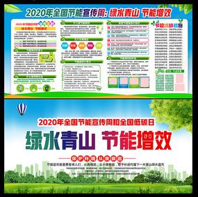 2020年节能宣传周和低碳日展板