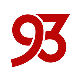 阿拉伯数字93字体设计