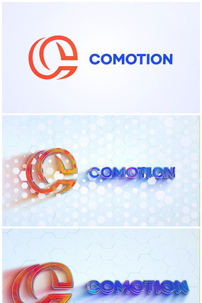 简约不规则大气企业logo视频模板
