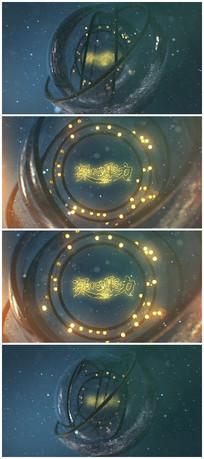 唯美宇宙粒子标题logo视频模板
