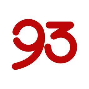 原创数字93艺术字体设计