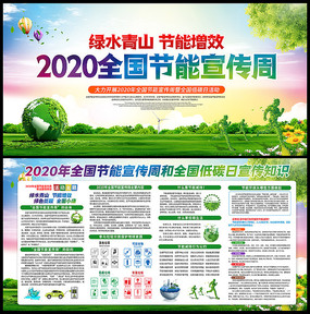 2020年全国节能宣传周宣传展板
