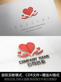 爱心logo标志公司商标设计
