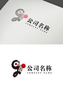 创意儿童围棋文化logo