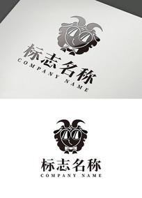 卡通可爱羊造型logo设计