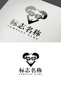 酷小羊logo标志-ai