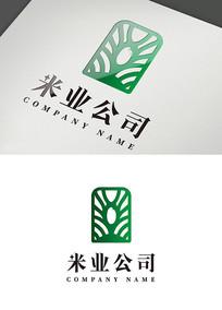 绿色大米公司logo