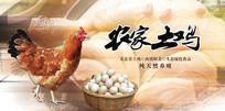 农家土鸡宣传海报