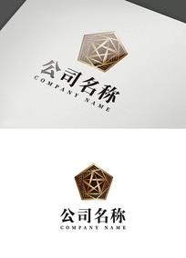 欧式五星空间创意logo设计