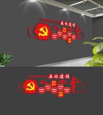 社区党支部五化建设党建文化墙
