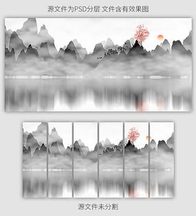 新中式山水风景客厅装饰画