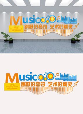 音乐文化墙模板