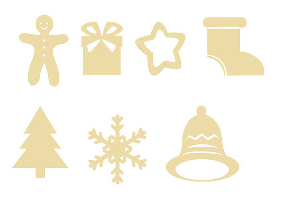原创手绘插画扁平圣诞节素材PSD