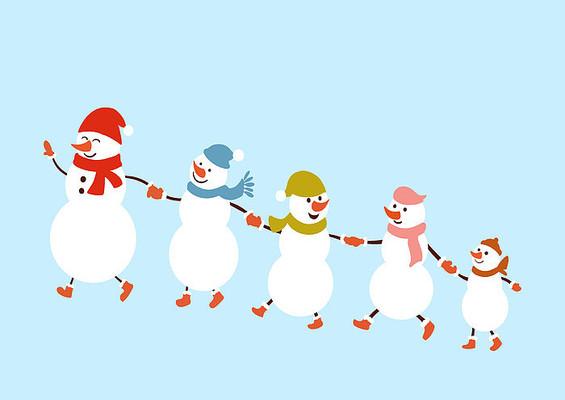 原创手绘插画圣诞节雪人素材PSD