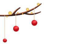 原创手绘插画圣诞节装饰彩灯素材PSD