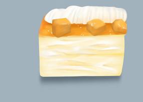 原创手绘插画甜点奶油蛋糕下午茶元素