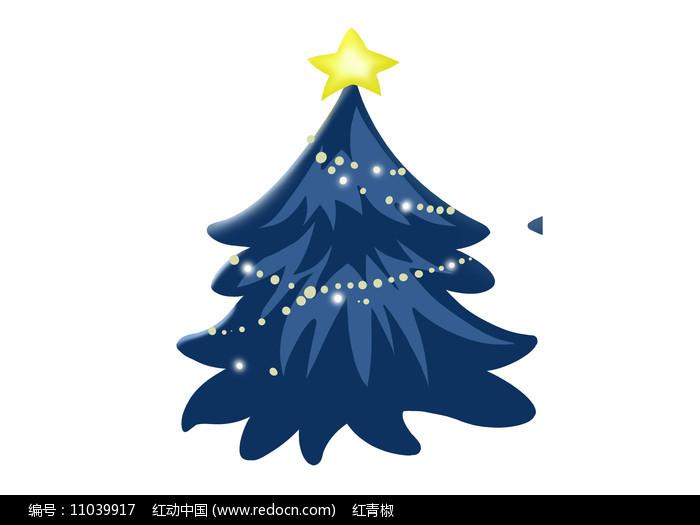 原创手绘卡通圣诞树插画素材PSD图片