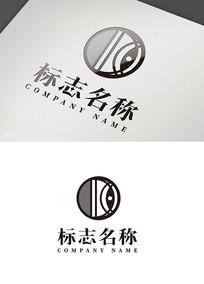 圆形创意鱼眼logo标志