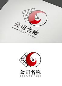 中国文化创意太极棋盘logo
