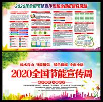 2020全国节能宣传周低碳日活动展板