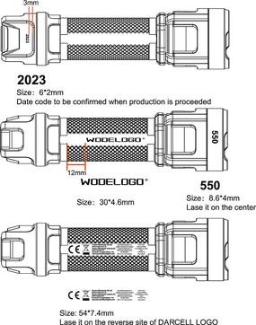 LED手电筒轮廓矢量图
