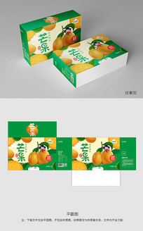 手绘绿色芒果包装
