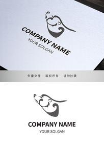 线条化熊标志商标设计