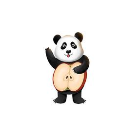 原创苹果小熊猫
