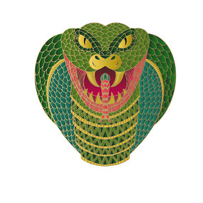 原创十二生肖蛇插画