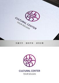 紫字标识设计文化商标
