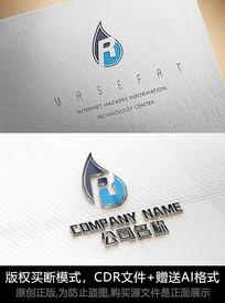 R字母logo标志字母商标设计