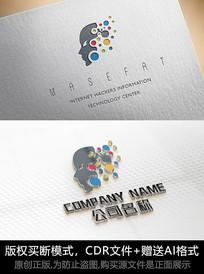 科技logo标志人工智能商标设计