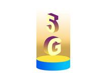 原创手绘光效5G文字素材PSD